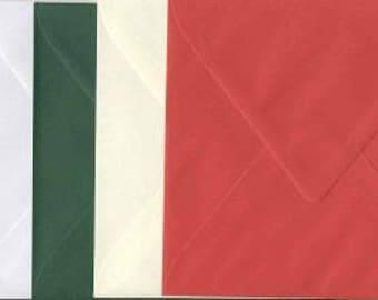 40 pieces square envelopes 14 x 14 cm Christmas coloring