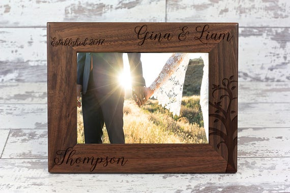 Personalized Picture Frame Anniversary Gift Custom Wedding