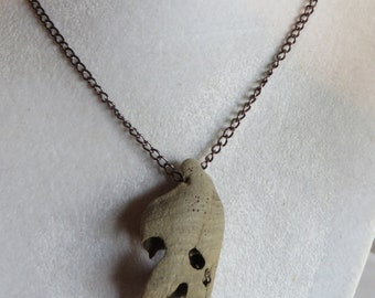 "18 1/4"" Driftwood Ghost Necklace, necklace/pendant/driftwood/natural/ghost"