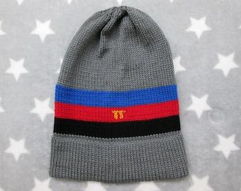 Knit Pride Hat - Polyamory Pride - Grey - Slouchy Beanie