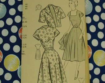Vintage Mail Order Pattern c.1960's Afternoon Dress and Jacket, Size 14, Uncut