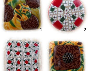 Polymer clay - gift idea hand made bottle stoppers