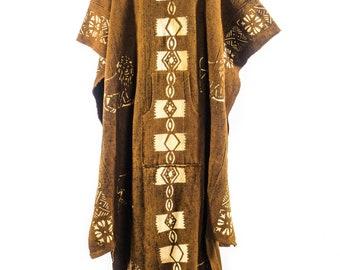 African Mudcloth Bogolan Poncho