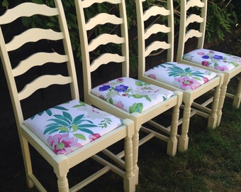 SOLD  A Shabby Chic Dining Table and Chairs