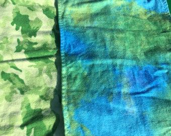 Burp cloth CAMO GREEN BLUE