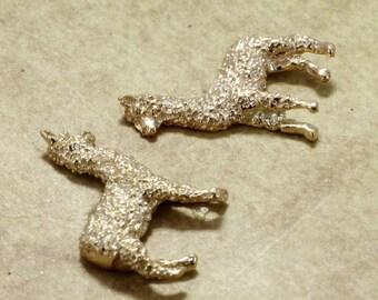Alpaca Jewelry, Alpaca  Earrings,  14kt. gold  Huacaya Alpaca Earrings, unique earrings for wife or girlfriend, gift for her, little animal