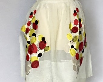 Vintage 1950s Apron with Balloon Pockets