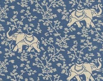 Animal Magic with Elephant Walk (Blue), Printed Decorative Fabric