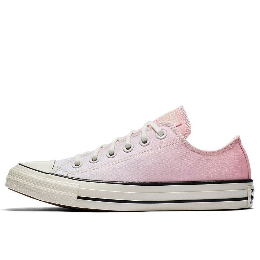 Pink Converse Low Ombre wash Blush Canvas Custom Kicks w  Swarovski Crystal  Chuck Taylor Rhinestone All Star Wedding Sneakers Bridal Shoes faa36dd67