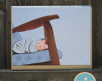 Swaddle -- Newborn/New Parent/New Baby card from The Nic Studio