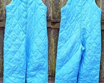 Vintage Ski Pants, Vintage Overalls, 70s Ski Suit, Quilted Overalls, Womens Overalls, Womens Ski Pants, Vintage Costume, 70s Costume