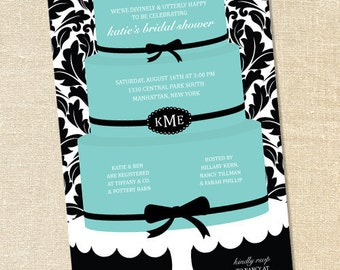 Sweet Wishes Breakfast at Tiffanys Party Invitations - PRINTED - Digital File Also Available