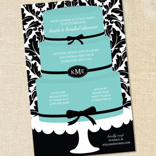 sweet wishes breakfast at tiffanys party invitations printed. Black Bedroom Furniture Sets. Home Design Ideas