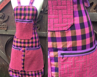 Pink heavy pockets khmer print