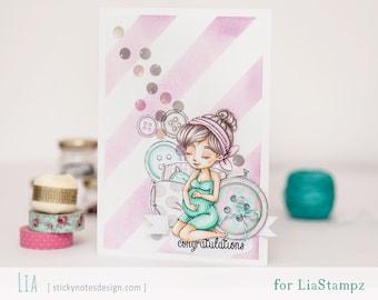 Digital stamp -Pregnant Girl set. digital stamp. expecting stamp. pregnancy stamp. LiaStampz