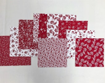 Red & White  Charm Pack 40 5 inch squares