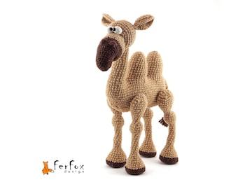 Stuffed camel figurine OOAK art doll Collectible animal figurine Camel soft sculpture Interior doll Camel statue Stuffed animals Plush camel