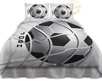 Soccer Comforter Twin, Queen, King, Boys Soccer Bedding, Athletic Bedding,  Personalized