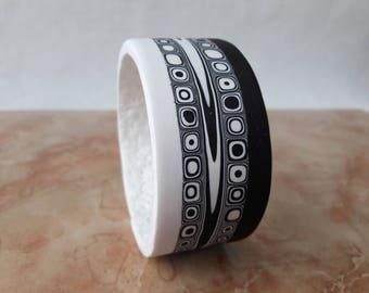 White bracelet black white jewelry gift for women bracelet jewelry gift idea black jewelry girl bracelet statement bracelet handmade jewelry