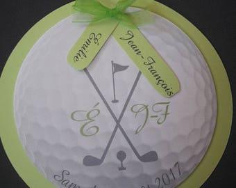golf theme wedding invitation