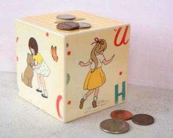 Hop Scotch Wood Bank, Kids Bank, Piggy Bank, Playtime, Handmade, Unique Coin Box, Toddler, Children, Savings, Money Box, Coin Box