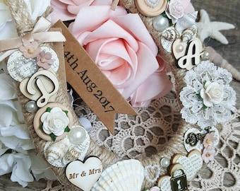 Beach Wedding Horseshoe | Horseshoe | Horseshoe Gift | Decorative Horseshoe | Lucky Horseshoe | Personalised Wedding Horseshoe