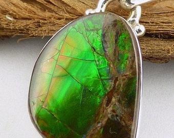 AMMOLITE PENDANT jewelry natural, ammolit jewels ammolit pendant, stone jewelry, vk11.3