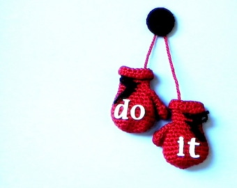 Crochet pattern - Do it  / Decorative boxing gloves -  amigurumi tutorial PDF