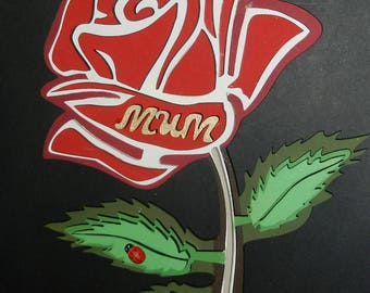 Hanging 3D rose wall plaque
