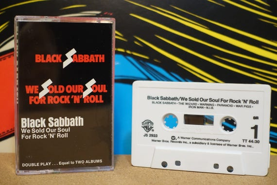 We Sold Our Soul For Rock 'N' Roll by Black Sabbath Vintage Cassette Tape