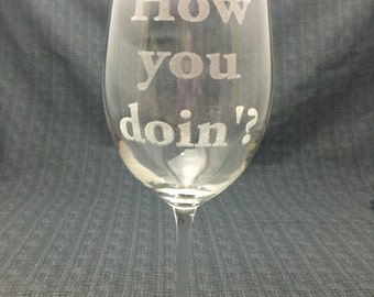 Sand Carved / Engraved - How You Doin'? - Joey Tribbiani -  Friends TV Show - GFRND006