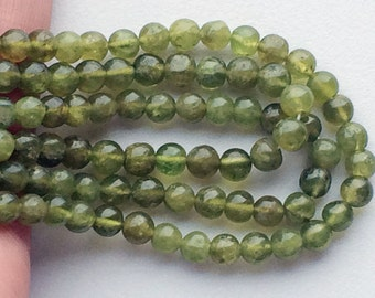 5 Strands WHOLESALE Vessonite Beads, Green Plain Round Beads, Vessonite Necklace, 6mm Beads, 13 Inch Strand