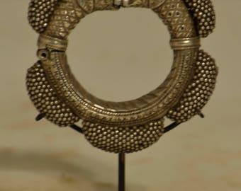 India Bracelet Silver Ornate Rjasthan Old Bangle Heirloom Bracelet
