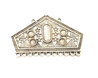 Silver Pendant Blank Antique Silver Plated Pendants (52x33mm)  G11083