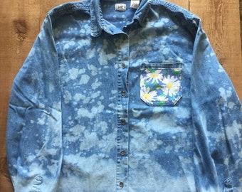 Handmade Daisy Denim Shirt