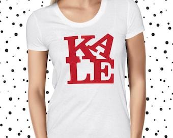 Vegan Kale Love Shirt - Vegan T-Shirt - Vegan Tshirt - Vegan Tee - Womens Vegan Clothing - Healthy - Funny Tee - Vegetarian - Plant-based
