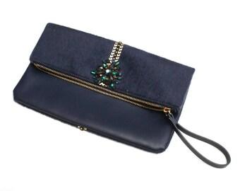 I got the blues clutch bag