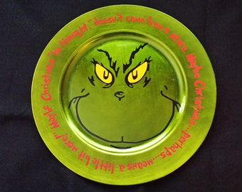 Grinch plate