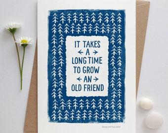 Friendship Card | Cards for Friends | Friends Card  | Luxury Greetings Card | Fine Art Card