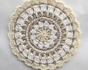 Crochet Mandala Table Mat Doily Coaster