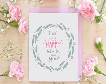 Happy With You Anniversary Greeting Card