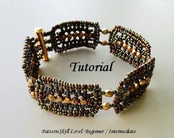 GODIVA beaded bracelet beading tutorial beadweaving pattern seed bead beadwork jewelry beadweaving tutorials beading pattern instructions
