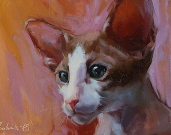 Custom pet portrait, Custom cat painting, Cat portrait, Custom Cat portrait, Cat lover, Pet memorial, Pet portrait, Animal painting