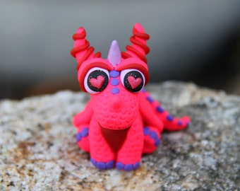 Mini Valentine Baby Dragon Figurine
