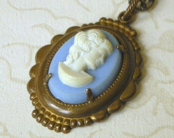 Vintage-Style Cameo Necklace and Chain