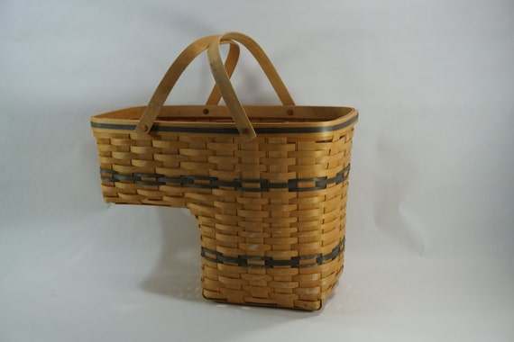 Carnation Basket Stairs Basket W/ Handles Handmade Handled