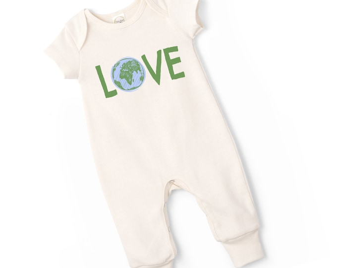 Newborn Baby Onesie World Outfit, Baby Girl Short Sleeve Romper, Infant Neutral Romper, World Love Baby Onesie, Newborn Baby Onesie TesaBabe