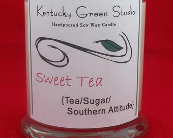 Handpoured Soy Wax Container Candle--Sweet Tea