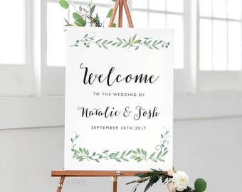 Printable Welcome Sign Poster - Wedding Welcome Sign PDF Download - Wedding Reception Sign Printable Wedding Signs PDF - (Item code: P015)