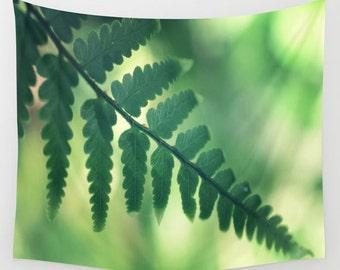 Tropical Leaf Wall Tapestry, Green Large Size Wall Art, Fine Art Photography, Modern, Office, Nature, Beach Hut Decor, Jungle Leaf, Dorm